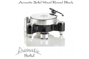 Acoustic Solid Wood Round Black